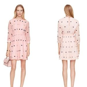 Kate Spade tiny spotlight Silk Polka Dot Dress